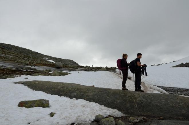 Tady nahoře (cca na 1200 metrech) už je oproti parkovišti o poznání chladněji.
