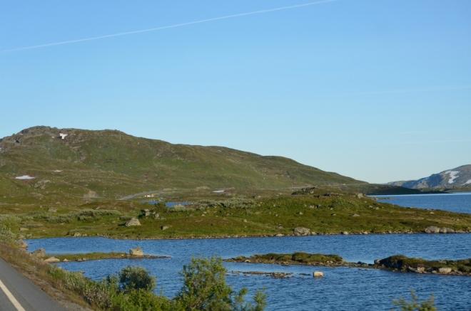 Jezero Ståvatn a jeho modř