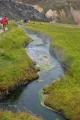 Horký potok. Zde se ještě koupat nedá, ale potok postupně chládne.