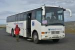 Náš terénní autobus, tedy s vyšším podvozkem a zkosenou zádí