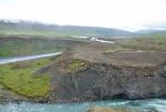 Kaňon řeky Skjálfandafljót pod vodopádem
