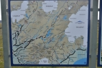 Mapa jižní části Sprengisandur na infotabuli