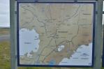 Mapa severní části Sprengisandur na infotabuli