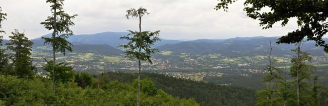Panorama s výhledy na Třinec.
