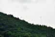 Paragliding z Malého Javorového.
