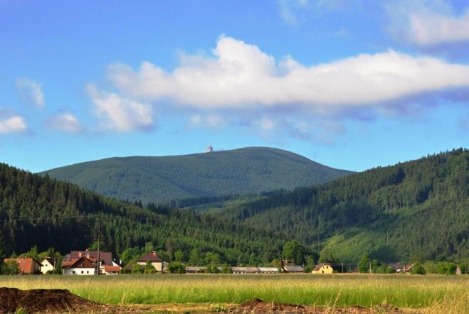 Lysá hora od Pražma.