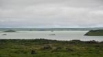 Jezero Mývatn. Ostrůvky jsou pseudokrátery.