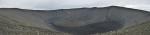 Sopka Hverfjall je tvořena v podstatě kruhovou hromadou kamení a popela s kopcem uprostřed. Je pozůstatkem obrovského výbuchu.