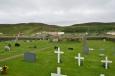 Hřbitov a lávové pole hned za ním