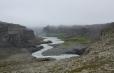 Kaňon řeky Jökulsá za vodopádem
