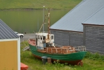 Stará rybářská loď u muzea