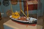 Model rybářské lodi v muzeu