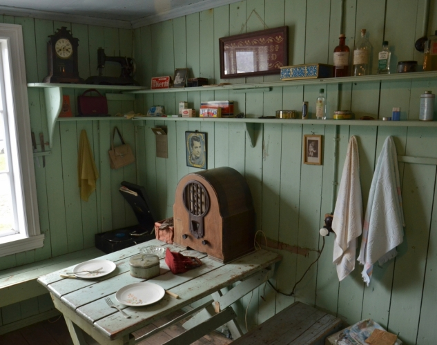 Kuchyňka tzv. sleďových děvčat, která jezdila v létě do Siglufjörðuru za prací