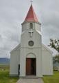 Kostelík u trávové farmy Glaumbær