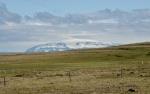 Pohled na ledovec Eiríksjökull, jeden z malých ledovců pokrývajích jednu horu