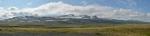 Panorama hory Tröllakirkja nad námi