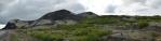Panorama sopky a lávového pole