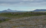 Pozůstatky lávových polí cestou do Borgarnesu