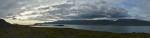 Panorama fjordu Hvalfjörður, západní část