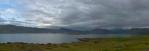 Panorama fjordu Hvalfjörður, východní část