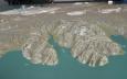 Vpředu vpravo poloostrov Tröllaskagi, který jsme objeli. Vlevo od něj, za fjordem Eyjafjörður se nachází neobydlený poloostrov, který by mohl poskytovat příležitosti pro pěkné túry. Úplně vlevo jezero Mývatn, vlevo vzadu Vatnajökull (největší ledovec Islandu), uprostřed Hofsjökull (3. největší), vpravo Langjökull (2. největší) a vzadu uprostřed Mýrdalsjökull (4. největší), okolo něhož jsme šli vandr.