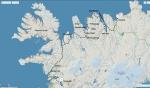 Mapa cesty na jihozápad s popisky míst zmíněných v článku.