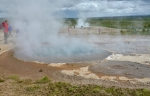 Další horké louže, které netryskají vodu, jen bublají