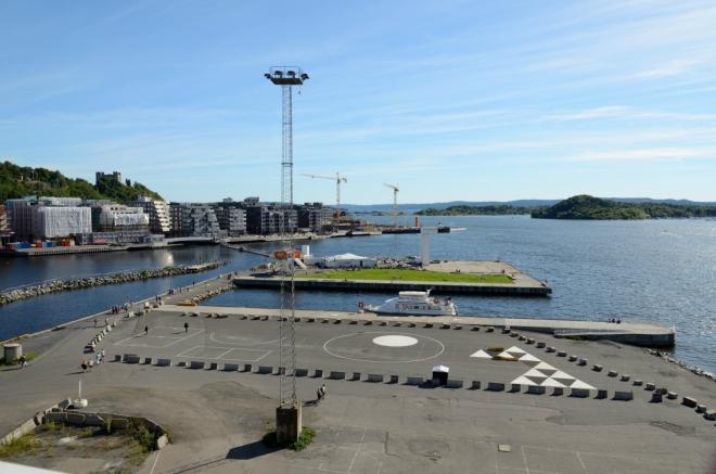 Na jižní straně vyhlídky se nám naskýtá krásný pohled na Oslofjord.