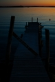 Západ slunce focený z kempu u města Larkollen, Norsko