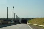 Most přes úžinu Øresund - vjezd do tunelové části