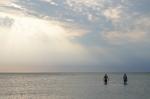 Pobřeží Baltu ve vesnici Stillinge Strand, ostrov Sjælland, Dánsko