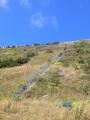 Schody vedoucí k okraji horní nádrže Dlouhých strání
