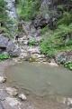 Vodopád Ráztockého potoka - bez vody.