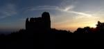 Svítání na hradě bylo úchvatné. Barvy se měnily minutu po minutě.