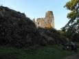 První pohled na hrad...