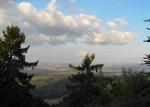 Výhled z nejvyššího místa na Tachovsko...
