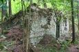 Zřícenina hradu Zahájí je také zcela pohlena lesem...