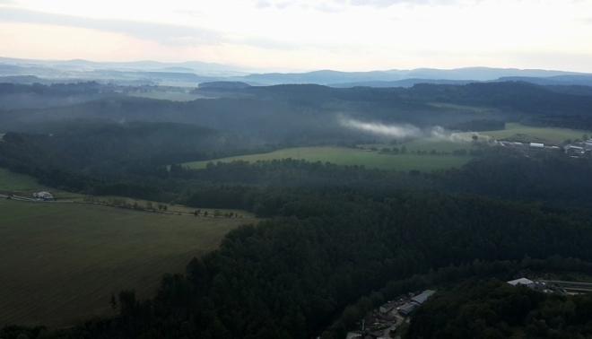 Pohled k Polušce (919 m n. m.).