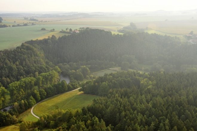 Přírodní památka Vltava u Blanského lesa.