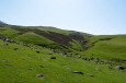 U vrcholu Nalsar (3177 m) v pohoří Geghamy, Arménie