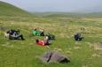 U vrcholu Aždahak (3597 m) v pohoří Geghamy, Arménie