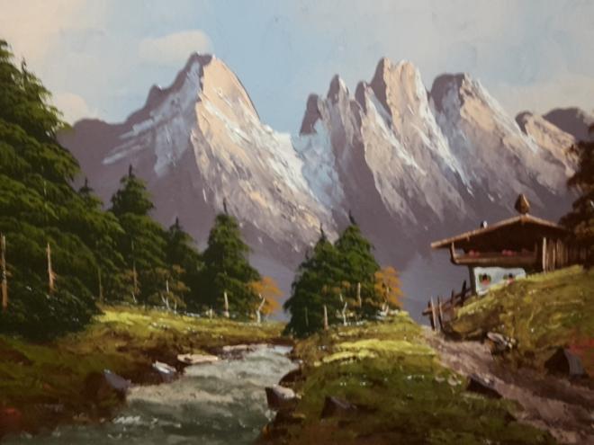 máme výhled do Alp.