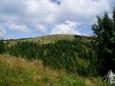 U Kojšovské hole jsme tušili občerstvení v chatě Erika, bohužel marně. A tak po výstupu na vrchol hory si dáváme zase jen chleba s paštičkou. A zapíjíme vodou.