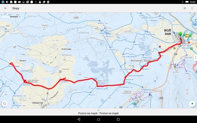 Trasa k Blatenskému vrchu - 23 km