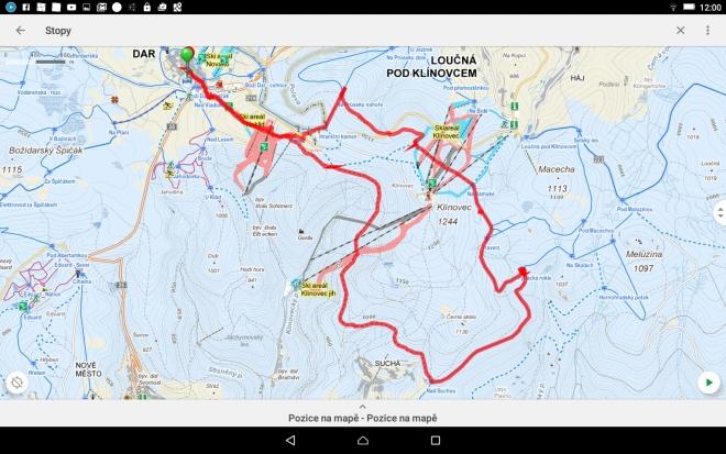 Trasa okolo Klínovce - 18 km