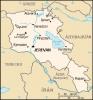 Mapka Arménie - volné dílo převzaté z https://commons.wikimedia.org/wiki/File:Am-map_-_2.png