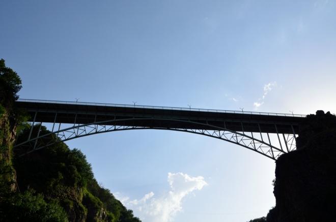 Tento most jsme přecházeli.