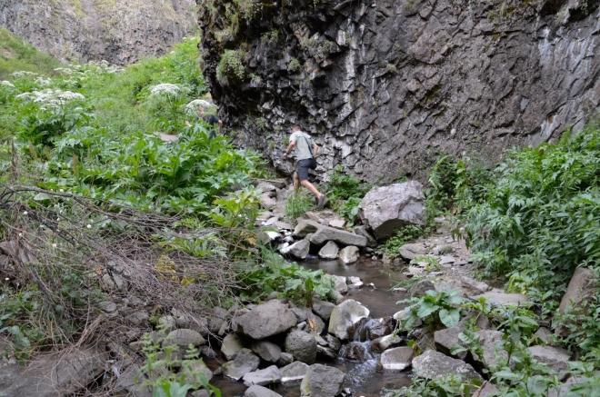 Stezka je trochu nevyšlapaná na to, jak jsou vodopády známé.