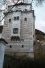 Zámek v Rožmitálu vznikl z původního hradu z 13. století a dochovala se tato hranolová věž se vstupní branou.
