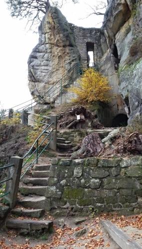 Zřícenina hradu Vranov.